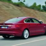 Das Heck des Jaguar XFR