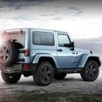 Das Jeep Sondermodell Wrangler Arctic in der Heckansicht