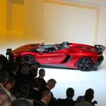 Supersportwagen Lamborghini Aventador J in der Seitenansicht