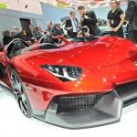 Front, Grill des Supersportlers Lamborghinis Aventador J