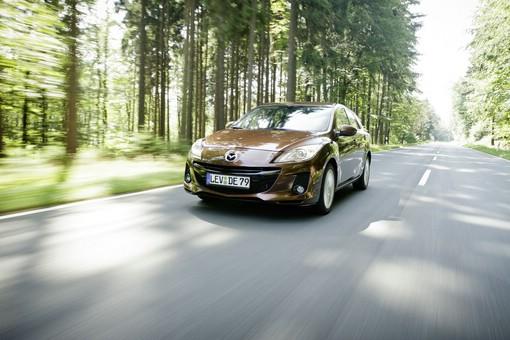 Der Mazda3 unterschreitet im ADAC-Ecotest den offiziellen Normverbrauch