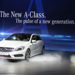 Die neue Mercedes-Benz A-Klasse in der Frontansicht - Genf Autosalon 2012