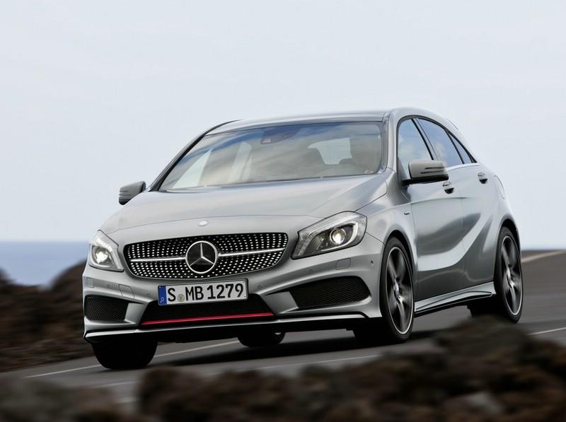 Die Frontansicht des AMG-Modells Mercedes-Benz A-Klasse Sport