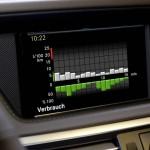 Die Verbrauchsanzeige des Mercedes-Benz E 300 Blue Tec Hybrid