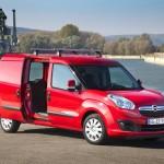 Der Opel Combo Cargo in der Front- Seitenansicht
