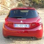 Das Heck des Peugeot 208