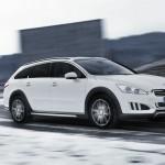 Das Diesel-Hybrid-Fahrzeug Peugeot 508 RXH in der Seitenansicht
