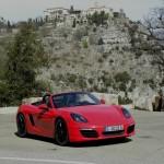 Porsche Boxster S Modell 2012 in Rot bei der Vorstellung
