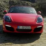 Der neue Porsche Sportwagen Boxster S in der Frontansicht