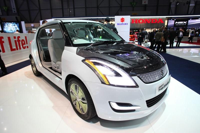 Suzuki präsentiert sein Elektroauto Swift Range Extender in Genf