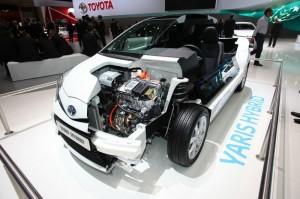 Der Motor des Toyota Yaris Hybrid