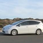 Der Toyotas Prius + bei Filmaufnahmen in Portugal