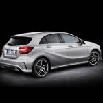Die Heckpartie der neuen Mercedes-Benz A-Klasse