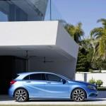 Seitenansicht des neuen Mercedes-Benz A-Klasse