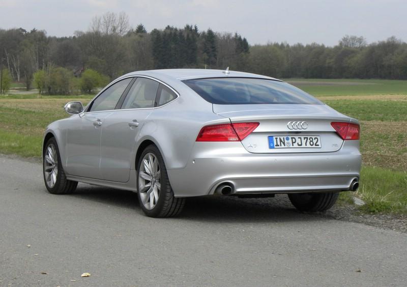 Die Heckansicht des Audi A7 Sportback