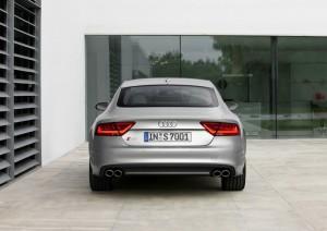 Heck des Audi S7 Sportback (Silber, Standaufnahme)