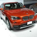 BMW X1 in der Frontansicht - auf der Automesse New York