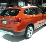 Die Heckansicht des BMW X1 - New York 2012