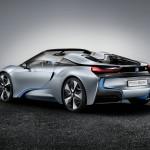 Heck des Konzeptfahrzeugs BMW i8 Concept Spyder