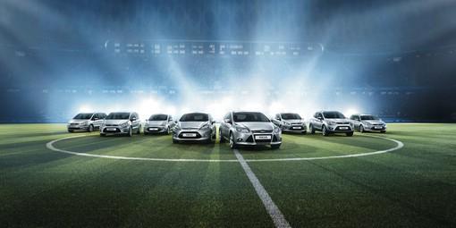 Ford Ka, Fiesta, Focus, C-Max, Kuga, Mondeo, S-Max und Galaxy Sondermodelle Champions Edition