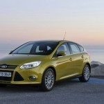Ford Focus mit dem neuen 1,0-Liter-Ecoboost-Motor (Standaufnahme)