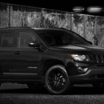 Frontansicht des Jeep Compass Black Edition