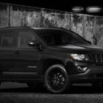 Frontansicht des Jeep Compass Black Edition