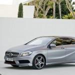 Die neue Mercedes-Benz A-Klasse in der Front- Seitenansicht