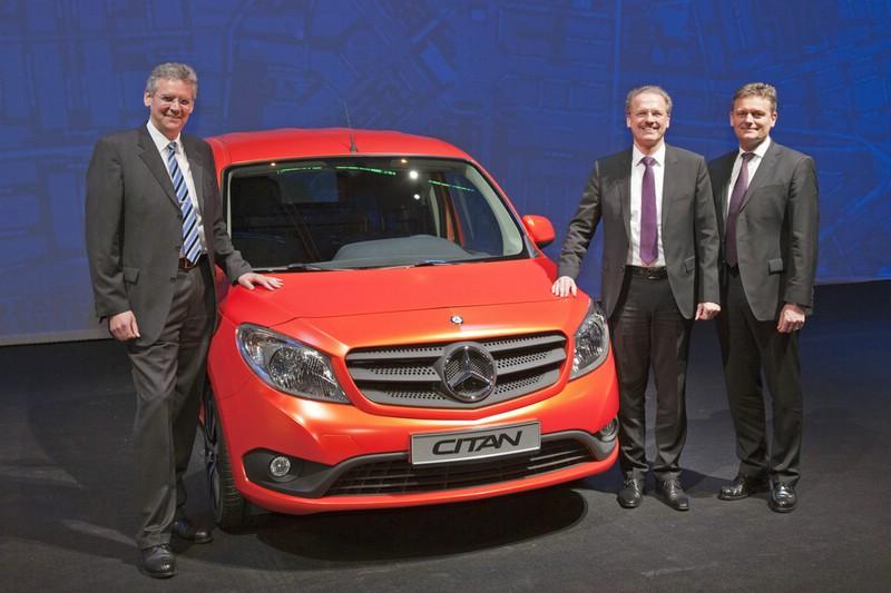 Der Mercedes-Benz Citan bei der Präsentation