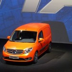 Mercedes-Benz Citan in Orange bei der Präsentation in Amsterdam