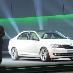 Skodas Kompaktlimousine Rapid auf der Automesse China 2012