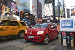 VW up in Rot in New York