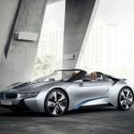 BMW i8 Concept Spyder in der Seitenansicht