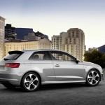 Neuer Audi A3 8V in der Seiten- Heckansicht
