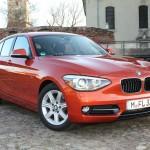 BMW 1er 116d F20 in Rot in der Frontansicht