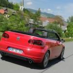 VW Golf GTI Cabrio in der Heckansicht
