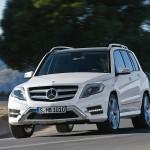 Die Mercedes-Benz GLK-Klasse in weiß
