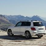 Die neue Mercedes-Benz GLK-Klasse in der Heckansicht