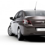 Heckansicht des neuen Peugeot 301