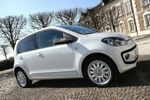 VW Up in Alpinaweiss