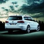 Heckansicht des Volkswagen Passat Variant R-Line