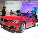 Ein roter BMW 3er Touring F31 auf der Leipziger Automesse