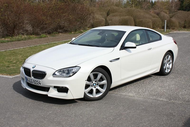 Der neue BMW 6er Coupe 640d in der Front- Seitenansicht