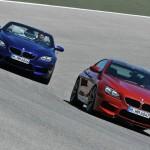 BMW M6 Coupe und Cabriolet auf der Rennstrecke