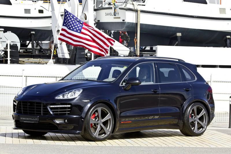 Der Porsche Cayenne in schwarz mit Aerodynamik-Paket Kit GT AERO 2
