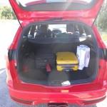Der Kofferraum des Ford Focus ST Tunier (Kombi)