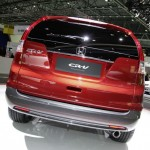 Der Honda CR-V als Prototype in der Heckansicht