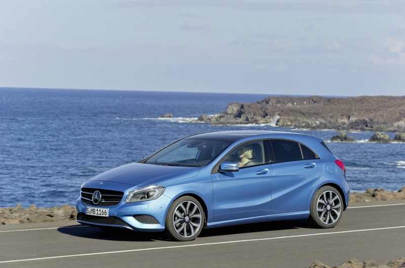 Mercedes-Benz A-Klasse in Hellblau