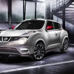 Nissan Juke Nismo in der Front- Seitenansicht