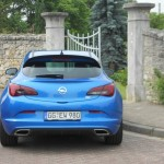 Die Heckpartie des Opel Astra OPC
